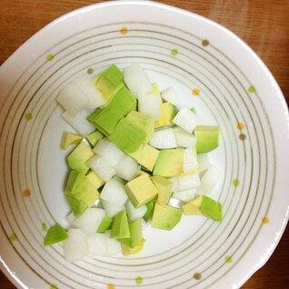生大根ダイエット 簡単!生大根とアボガドサラダ
