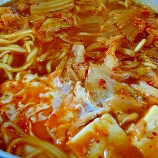 うちの麺「豆腐チゲラーメン」