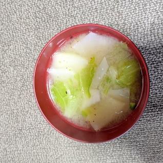カブと白菜の味噌汁