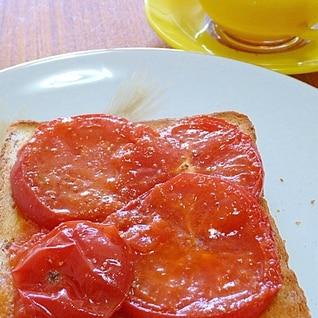 イギリスの朝食☆熱々☆トマト on トースト