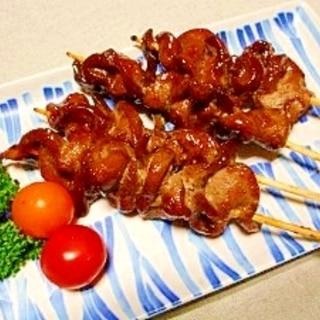 豚レバー串焼き☆ニンニク醤油