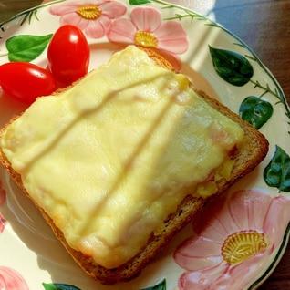 ポテサラチーズトースト(^^♪