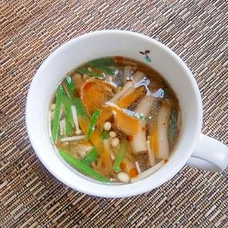 韓国風牛だしのスープ