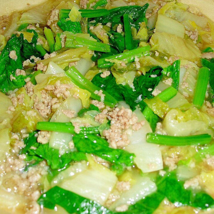 """優しい味♪我が家の""""挽肉と白菜の土鍋煮"""""""