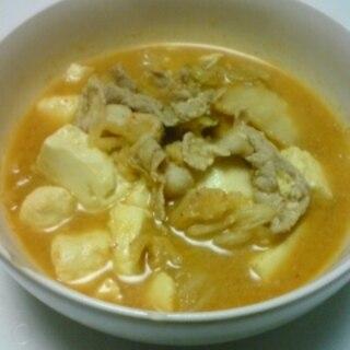 キムチ入り味噌肉豆腐