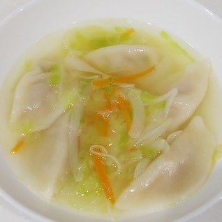 簡単☆水餃子と野菜のスープ