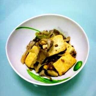 簡単!ひき肉とめんつゆで、肉豆腐