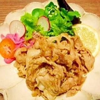 おろしリンゴ入り☆豚の生姜焼き