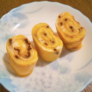 塩昆布とキャベツの卵焼き