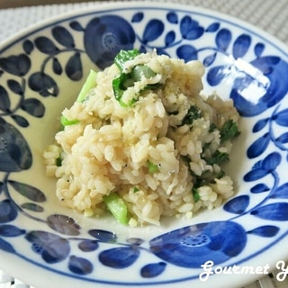 しらすと小松菜のカルシウムたっぷりリゾット
