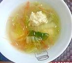 ポリ袋で鶏だんご☆あったまるコンソメスープ