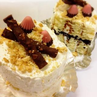 市販のお菓子で♡おうちで簡単ミニケーキ