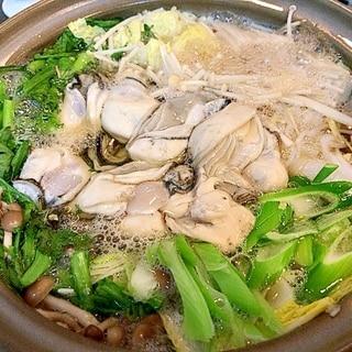 具沢山☆これが我が家の牡蠣鍋