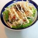レタスともやしと大根の和風サラダ