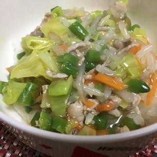 【幼児食】豚肉と野菜たっぷりあんかけ丼★