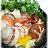 鶏肉と帆立とえびの海鮮寄せ鍋☆
