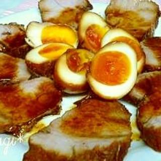 煮豚&煮卵。