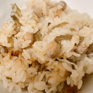 炒り大豆の炊き込みご飯