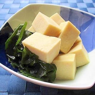 レンジで簡単!高野豆腐とわかめの白だし煮