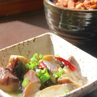 台湾ローカル食堂定番の小菜『なすの揚げ浸たし』