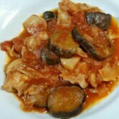 美味しかった~♪ トマト味って大好きです。ナスもトロトロでしたし、ササミですのでヘルシーな所も気に入りました。 ごちそうさまでした(^^)
