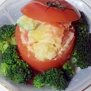 ポテトサラダinトマトカップ