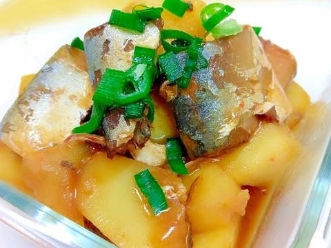 簡単(^^)冷凍じゃがいもとサバ缶のピリ辛味噌煮♪
