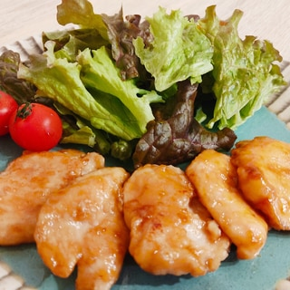 塩麹で柔らか☆鶏むね肉の甘辛照り焼き