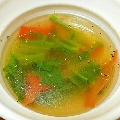 ほうれん草とにんじんのスープ