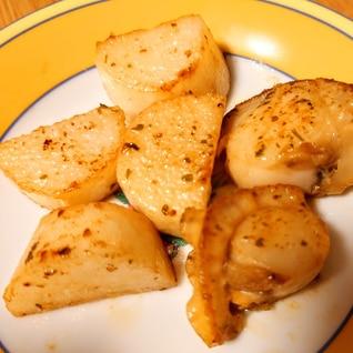 簡単おつまみ☆長芋と帆立のバター醤油焼き
