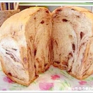 ホームベーカリーで簡単!!チョコマーブル食パン