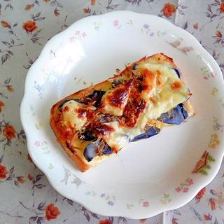 茄子の漬物deチーズトースト