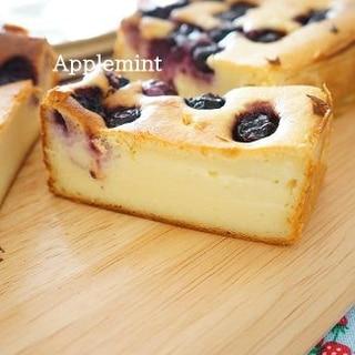 贈り物に♪ブルーベリーのベイクドチーズケーキ