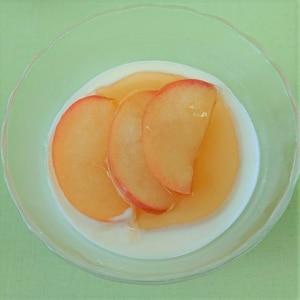 ヨーグルトミルクゼリー りんごソース添え