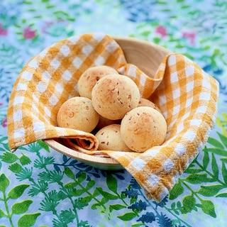 おからパウダーでチーズガーリックベーコン丸パン