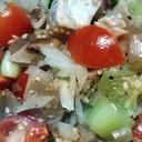 玉ねぎとミニトマトの和え物