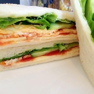 昔ながらの母のサンドイッチ♡薄焼き卵サンド