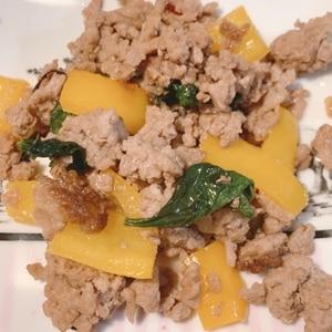 超簡単ガパオ☆タイ風ひき肉とバジル炒め