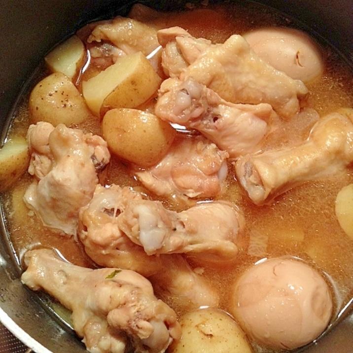 新じゃがいもと鶏の手羽元のさっぱり煮