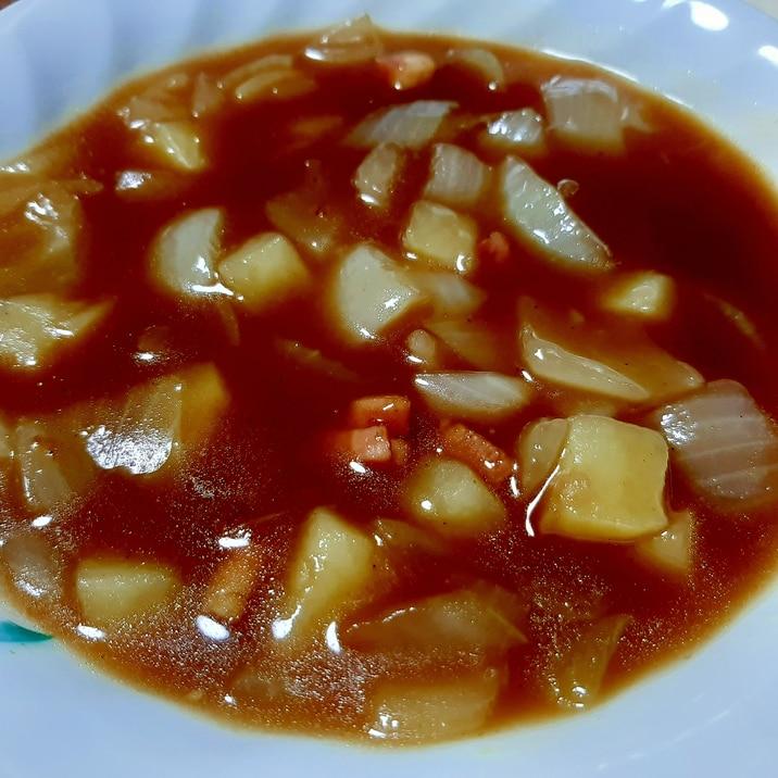 懐かしの給食♪カレースープ
