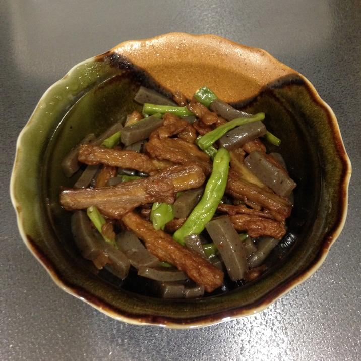 ご飯が進む♪さつま揚げとインゲン豆の炒め煮☆