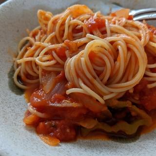 【カルディトマト缶】本格トマトパスタ!
