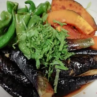 生姜でさっぱり*夏野菜の揚げ浸し