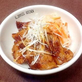 合わせだれで簡単‼︎豚バラ肉のピリ辛丼