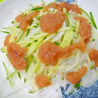 大根と新玉ねぎの明太サラダ