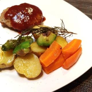 美味しさ凝縮☆ローズマリー風味のグリル野菜