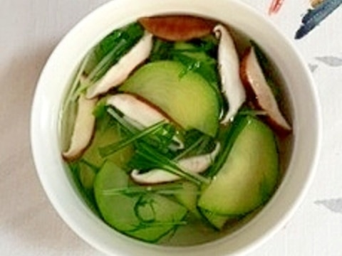 ズッキーニと水菜の冷製スープ