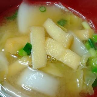 *油揚げ*白菜のお味噌汁