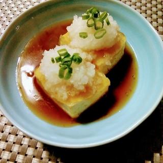 柚子胡椒&たっぷり大根(おろし)de揚げだし豆腐