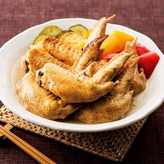 鶏手羽先と夏野菜の酢煮